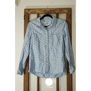 Madewell Floral Chambray Button Down Shirt - Small